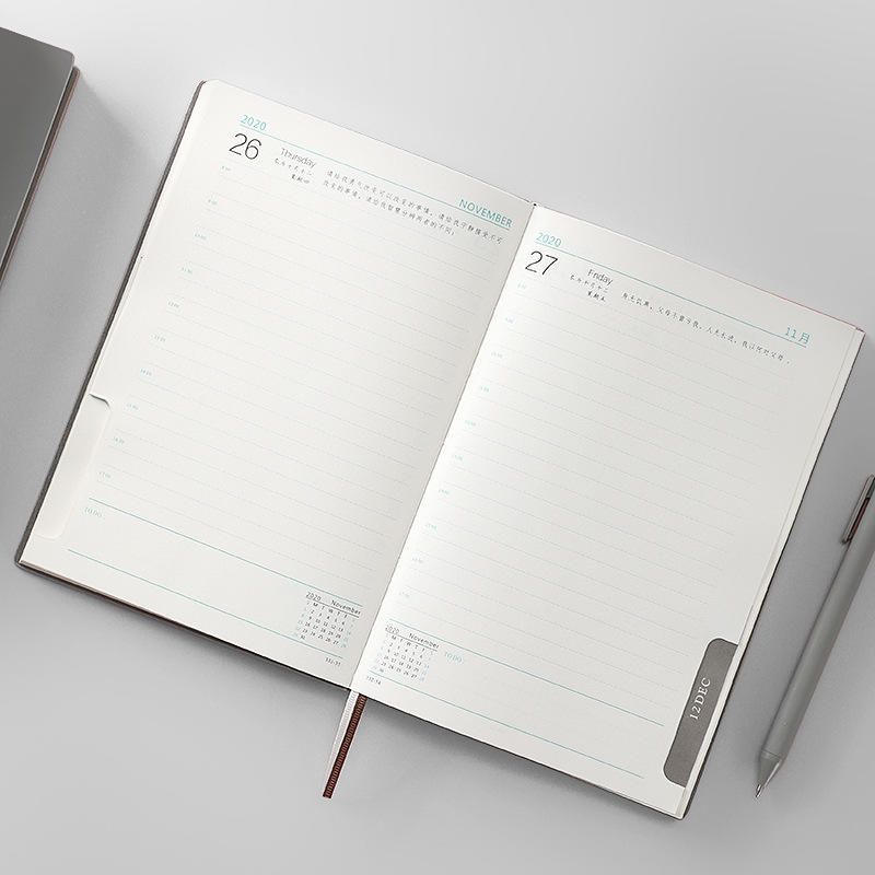 product-Dezheng-A5 2021 Smart PU Leather Notebook Personalized Day Designer Planner Promotional Agen-1