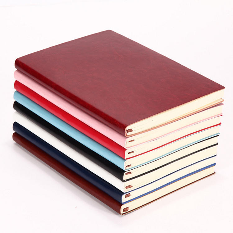 Custom A5 Soft Cover Thin Pu Leather Notebook Planner With Personalized Pages,custom logo
