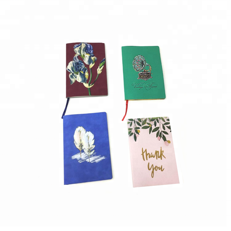 2019 Arrival Customize Printing A6 Small PU Leather Journal Writing Notebook