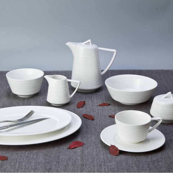 Hotel white crockery tableware wedding dinnerware sets