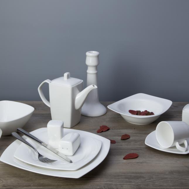 New design wholesale microwave safe pakistani 72 pcs wedding elegance fine porcelain dinner set