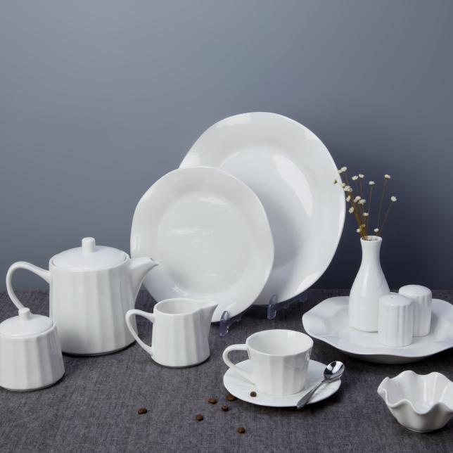 Hot sale turkish ceramics, hotel restaurant dining table set