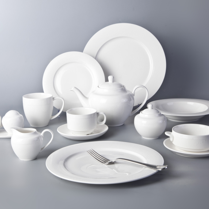 Airline catering fine ceramic white porcelain modern restaurant plates top choice dinnerware
