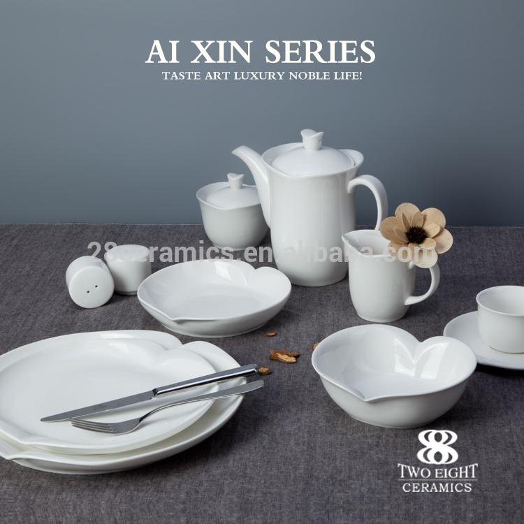 Hotel Ware Porcelain Tableware Fine Ceramic Tableware Durable White Crockery Tableware fancy hotel & restaurant crockery tablewa
