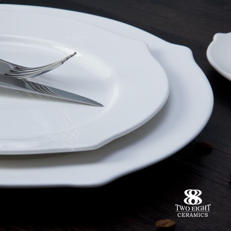 Hotel royal bone china , porcelain crockery set , luxury dinner set for banquet wedding party