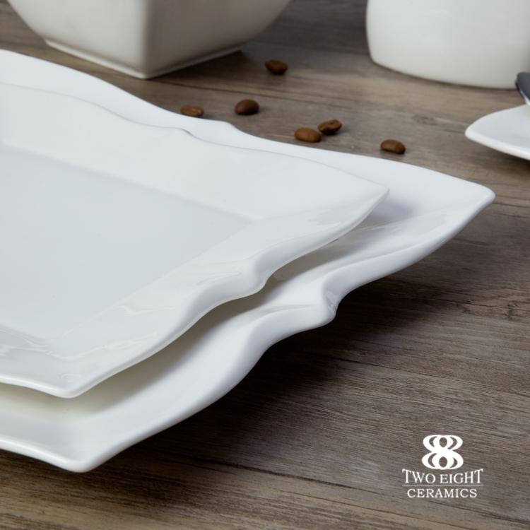 Restaurant Modern Luxury Dinnerware, Ceramic Breakfast Dinnerware Set, Dinnerware Oem