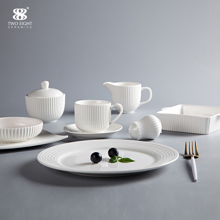 Hotel Tableware Supplierd Tableware Set Dinnerware Set Porcelain, Restaurant Modern Luxury Dinnerware