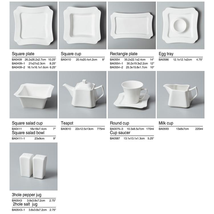 WholesaleWhite dinner sethotel crockery White dinner set durable fine porcelain dinnerware set