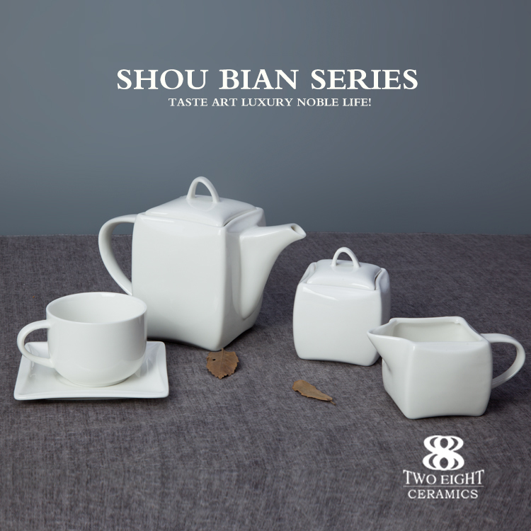 Wholesale square dinner plates ceramics porcelain tableware restaurant ceramics dinnerware sets made in china