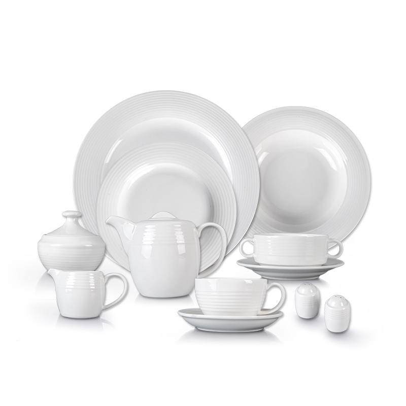 White Hotel Dinnerware Plate Sets, Restaurant Used Good Price Porcelain Tableware, Catering Luxury White Dinner Set/