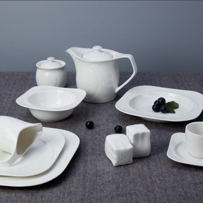 Wholesale catering dinner plates white, turkish dinner set