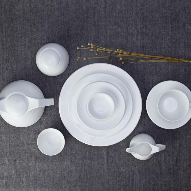 Western style ceramic ware hotel collection dinnerware set