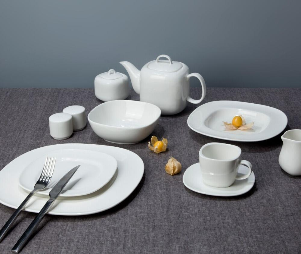 Wholesale Products China Homeware, Luxury Ceramic Dining Porcelain Tableware, White Plates Sets Fine China Dinnerware