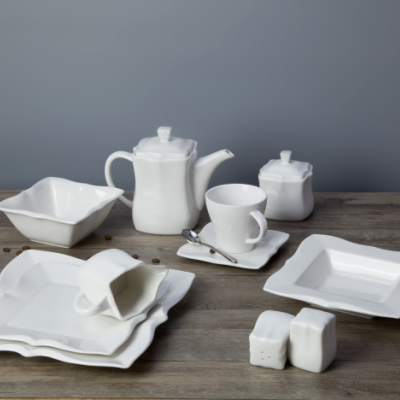 Fancy hotel and restaurant ceramic tableware set