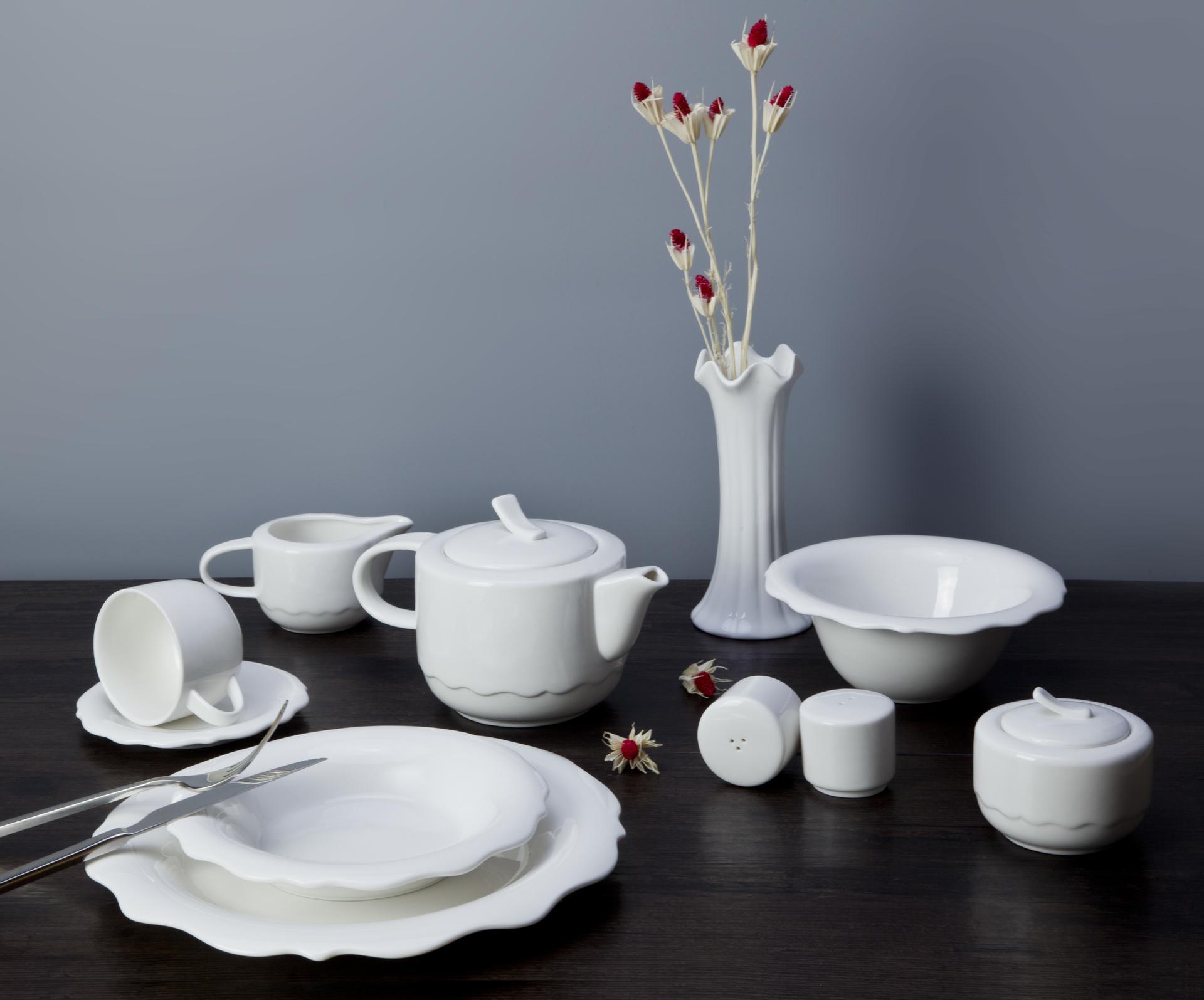 elegant dinnerware white porcleian tableware hotel restaurant dinning table set