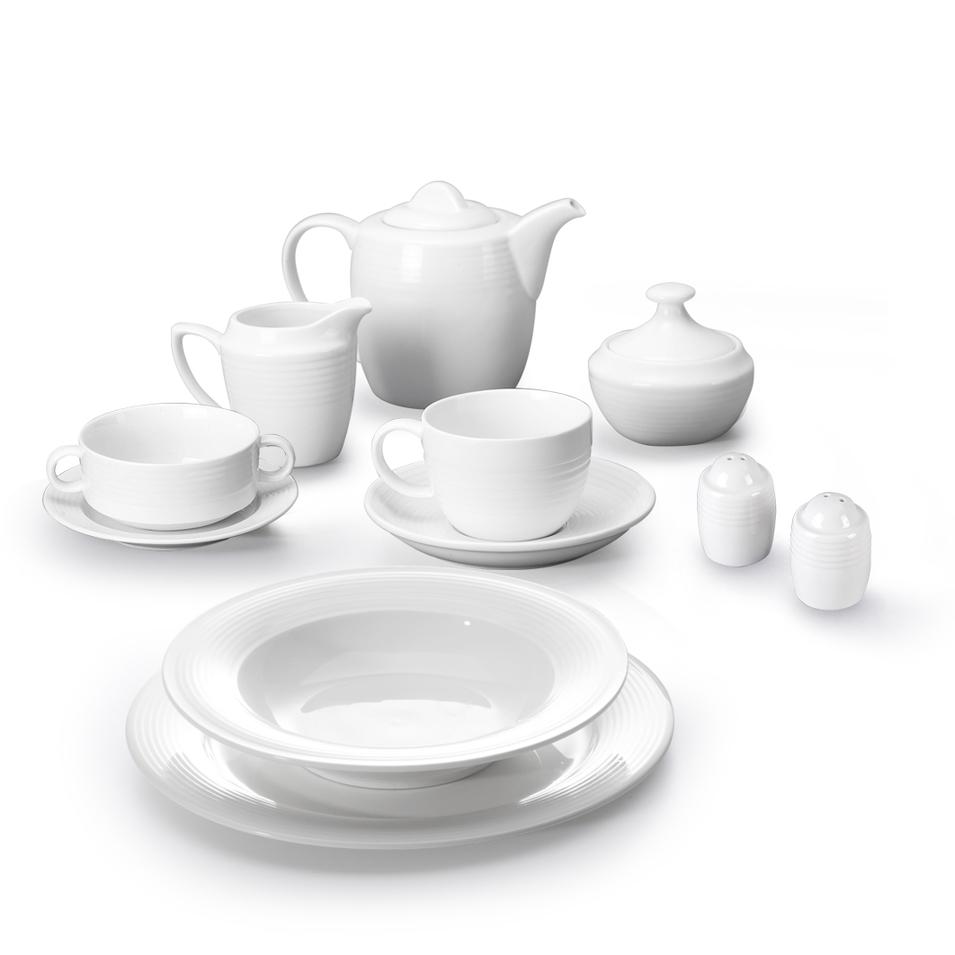 Luxury Dinnerware Sets, Good Price Porcelain Tableware, White Tableware Dinner Sets/