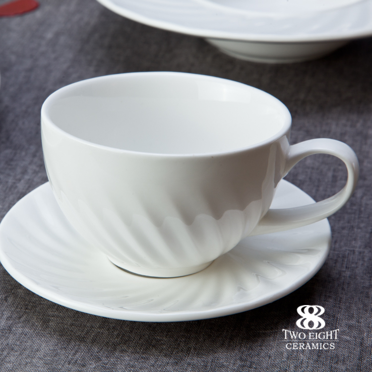 Wholesale dining plate set white, hotel & restaurant table ware