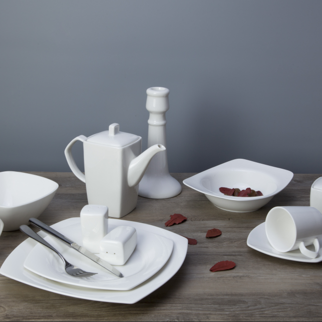 porcelain 180ml tea cup with sauce, unbreakable bone china dinner set