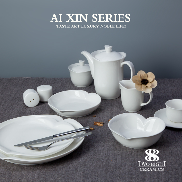 wholesale porcelain dinnerware for hotel , 72 pcs dinner set with excellent price