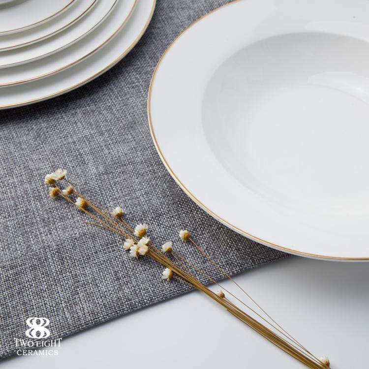 Hotel Restaurant Modern Luxury Dinnerware, Bone China Dinning Tableware from China, Wedding Plates Sets Dinnerware