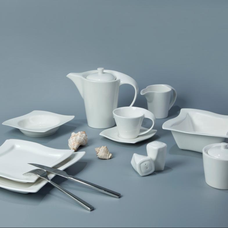 Square shape ceramic dinner set windmill design 8