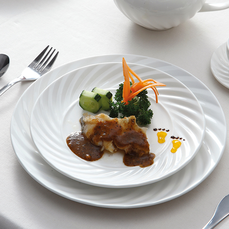 Wholesale Products China Sale Well Plate, Hotel & Restaurant Used Crockery Tableware, Ceramic Dinner Plate Restaurant^