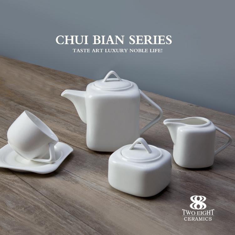 Factory price ceramic ware china porcelain square dinnerware sets