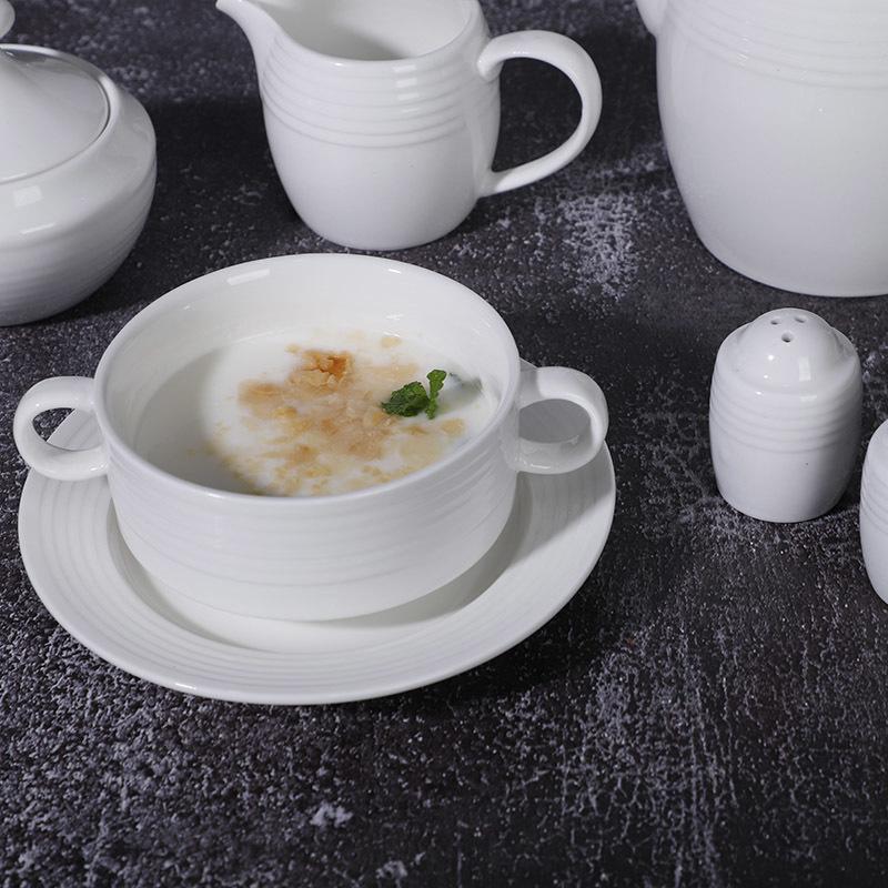 Elegant Dinnerware Sets, High Grade Porcelain Tableware, Wedding Set Plates For Dinner Restaurant$