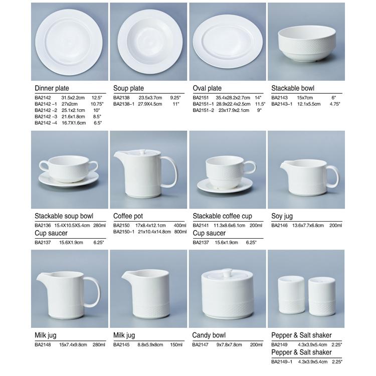comfortable timeless tableware Modern casual tableware set tableware for restaurant