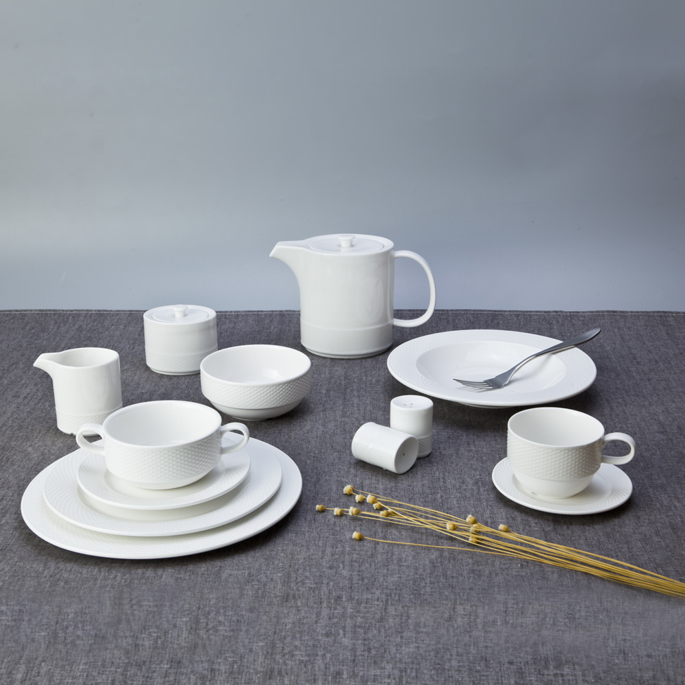Wedding Catering White Plate Customize Tableware,Commercial Customize Restaurant Party Tableware, Dinnerware Oem