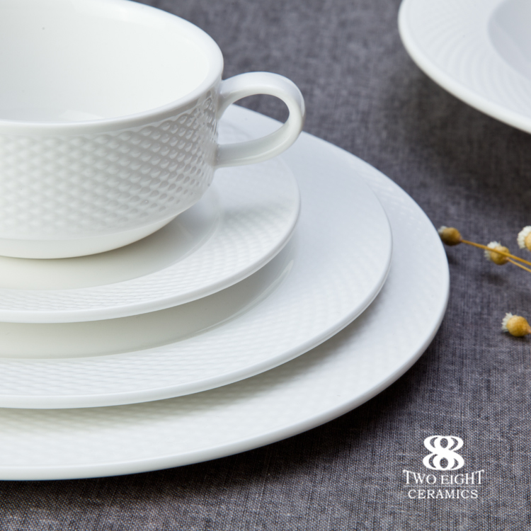 chaozhou Two Eight Ceramics Seattle romantic tableware set for star restaurant