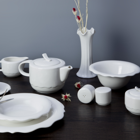 Hotel&restaurant wholesale ceramic white tableware dinnerware sets porcelain