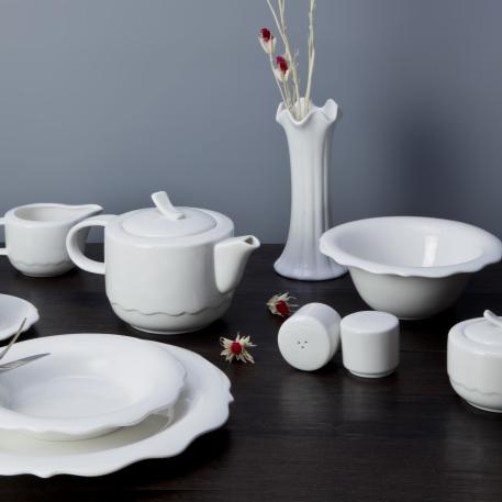 Hotel&restaurant wholesale ceramic white tableware dinnerware sets porcelain