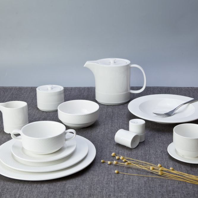 Ceramic dinnerware with multiple choice of round deep restaurant oval plates