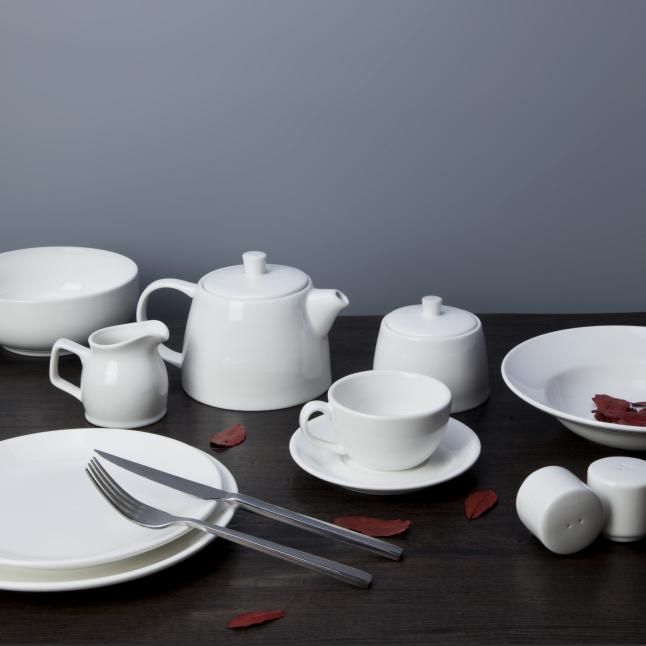 Airline use dishwasher safe fine china porcelain tableware set