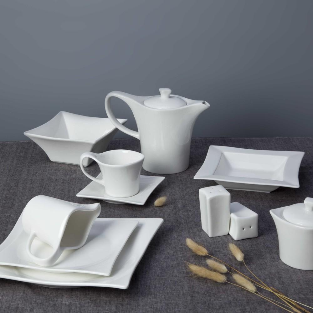 amazon top seller 2019 ecofriendly catering white Nordic ceramics plates porcelain white luxury for restaurant use