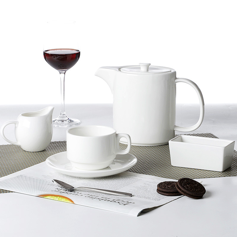 Hosen 28 Best Seller for Banquet Event Ceramics Dinner Set,Square Dinnerware Sets, Restaurant Square Dinner Set