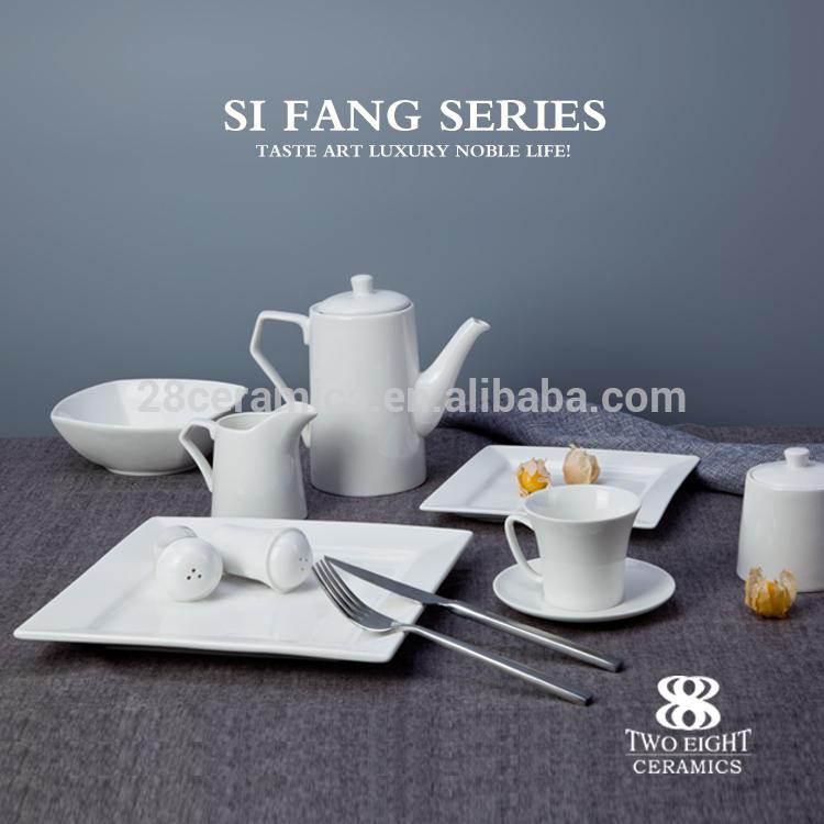 wholesale hotel crockery set , porcelain dinner table set for banquet
