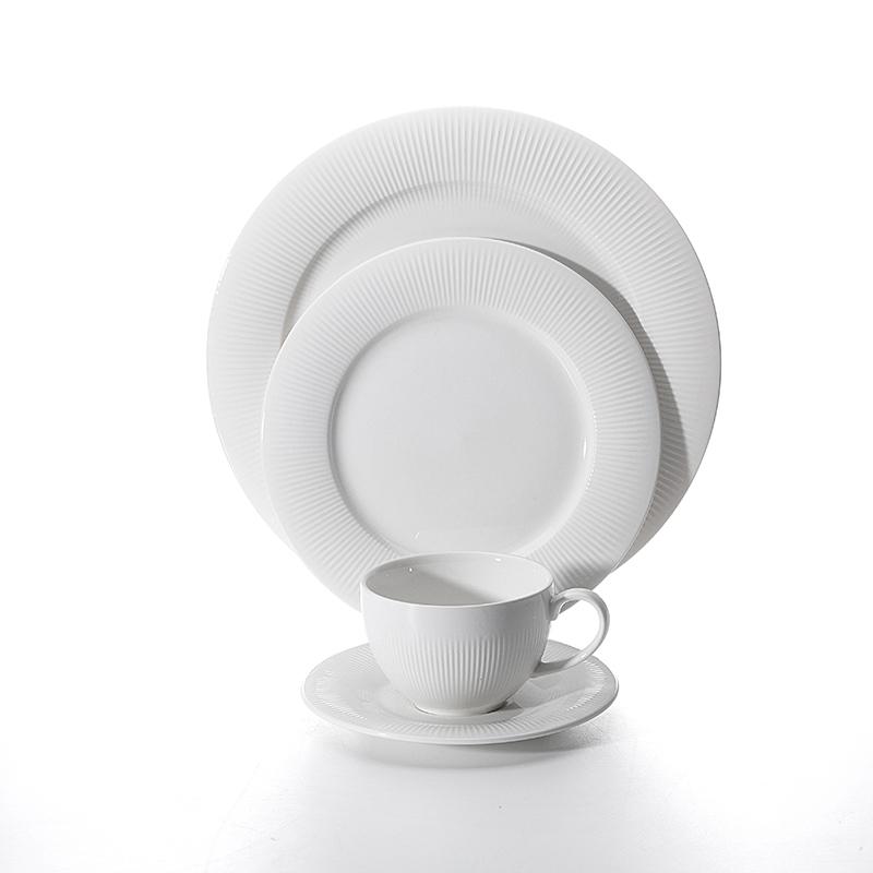 Hotel Supplier Cheap Bulk Tableware Ceramic Dinner Plates, Dinnerware Set Porcelain Coffee Cup, Restaurant Serving Dishes