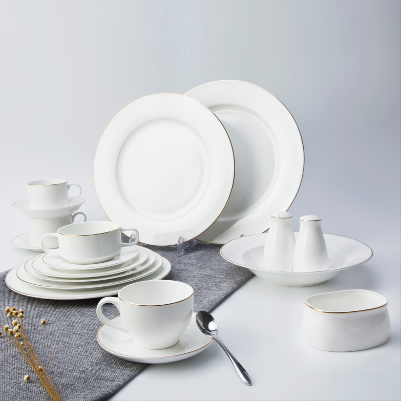 Hotel Restaurant Modern Luxury Dinnerware, Bone China Dinning Tableware from China, Wedding Plates Sets Dinnerware