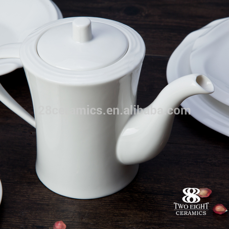 Durable Ceramic Wholesale tea cups saucers set for dining hall