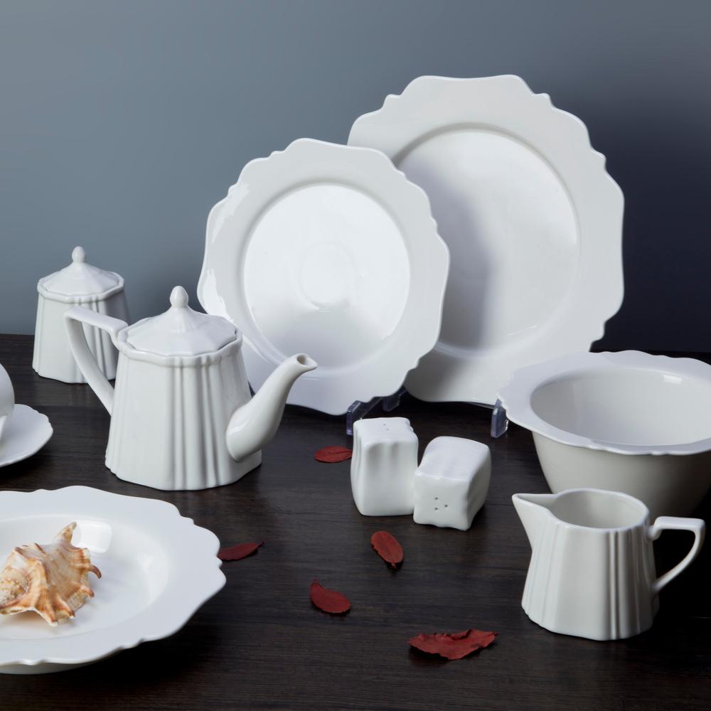 modern raised edge tableware ceramic plates dishes restaurant hotel restaurant tableware