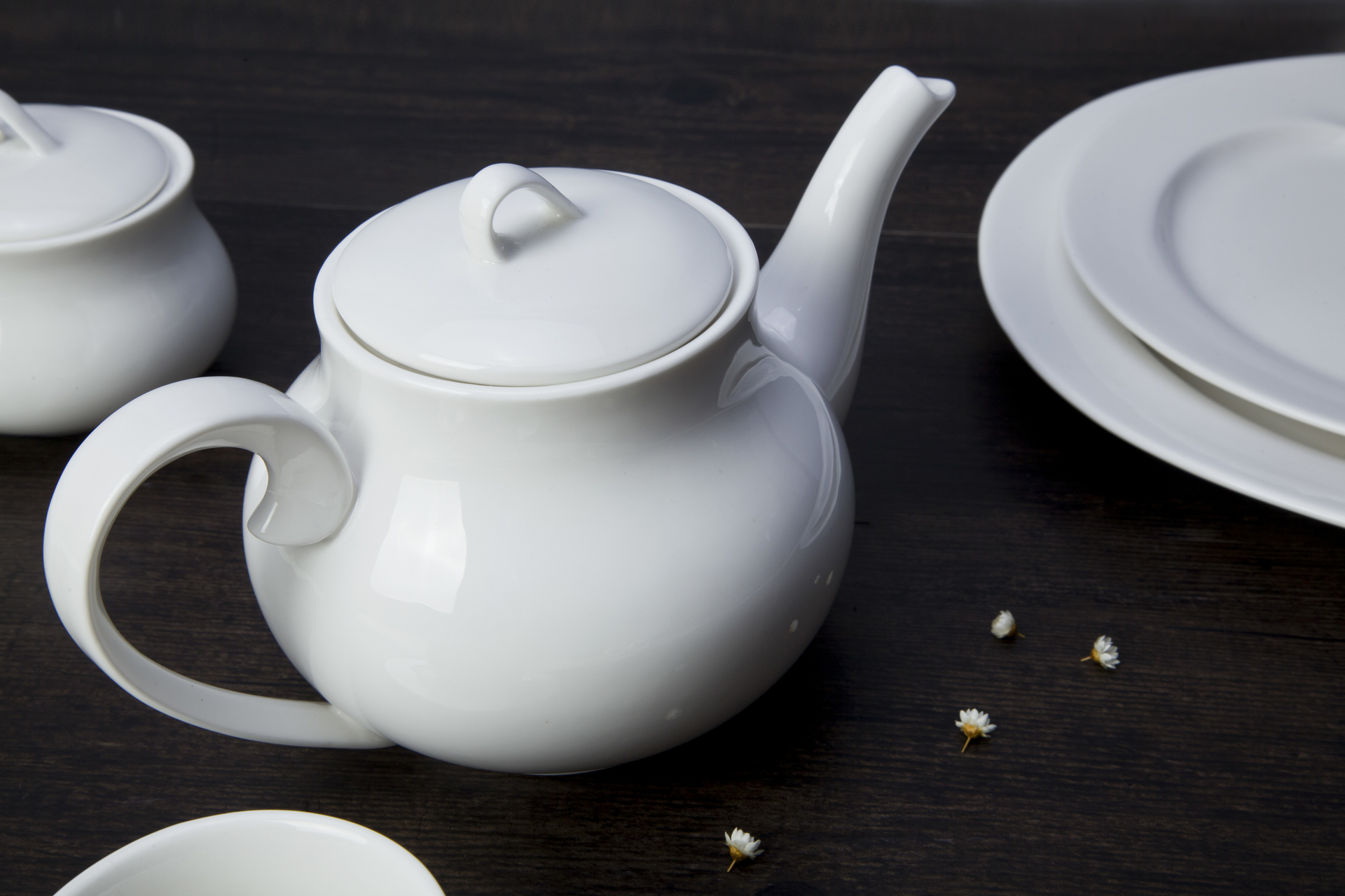 Ceramic dish set dinner plate tableware factory hot selling best price easy cleaning Restaurant white porcelain diner set