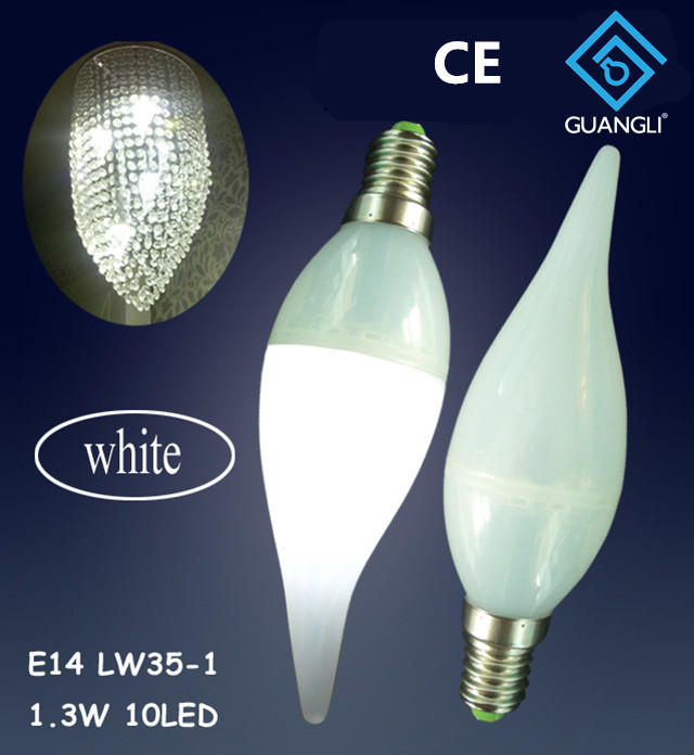 OEM LW35 110V 240V 1w E12 E14 led light bulb for candle light and night light wall lamp