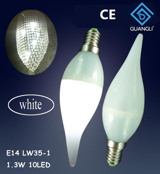 LW35 110V 240V 1w E12 E14 led light bulb for candle light and night light wall lamp