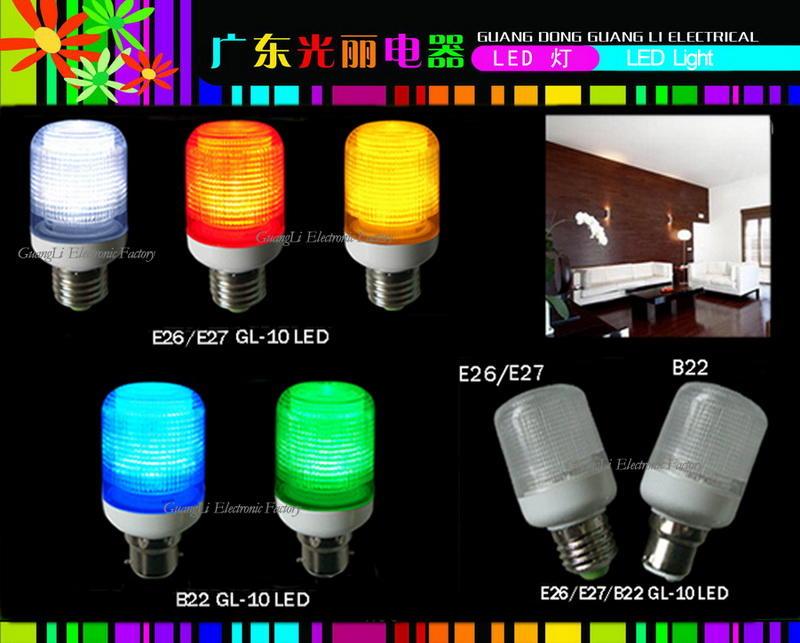 OEM GL-10LED 110V 240V 1w E27 B22 led light bulb for candle light and night light wall lamp