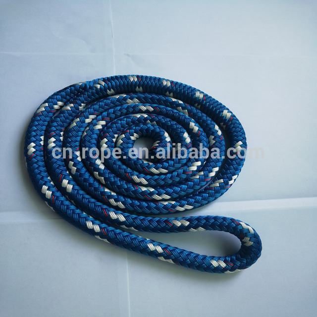 Black color braid polyester rope for hammock suspension rope