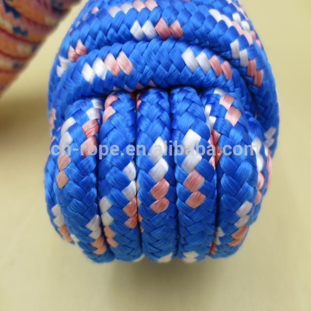Braid polyester rope for hammock, tent, outdoor ropes