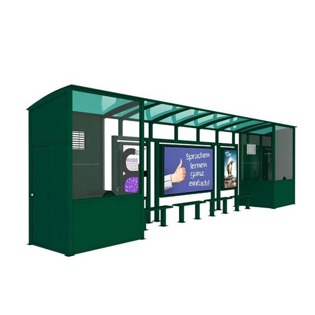 2020 Customized Metal Vending Kois Bus Shelter Design