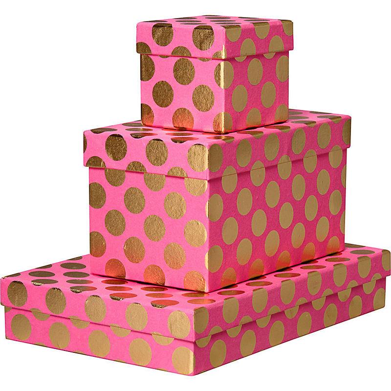 Custom Logo Luxury Printed Gift Box Packaging polka dot gift Box Gift Packaging